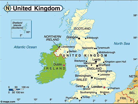 Ipe Codex Google - Ireland on map
