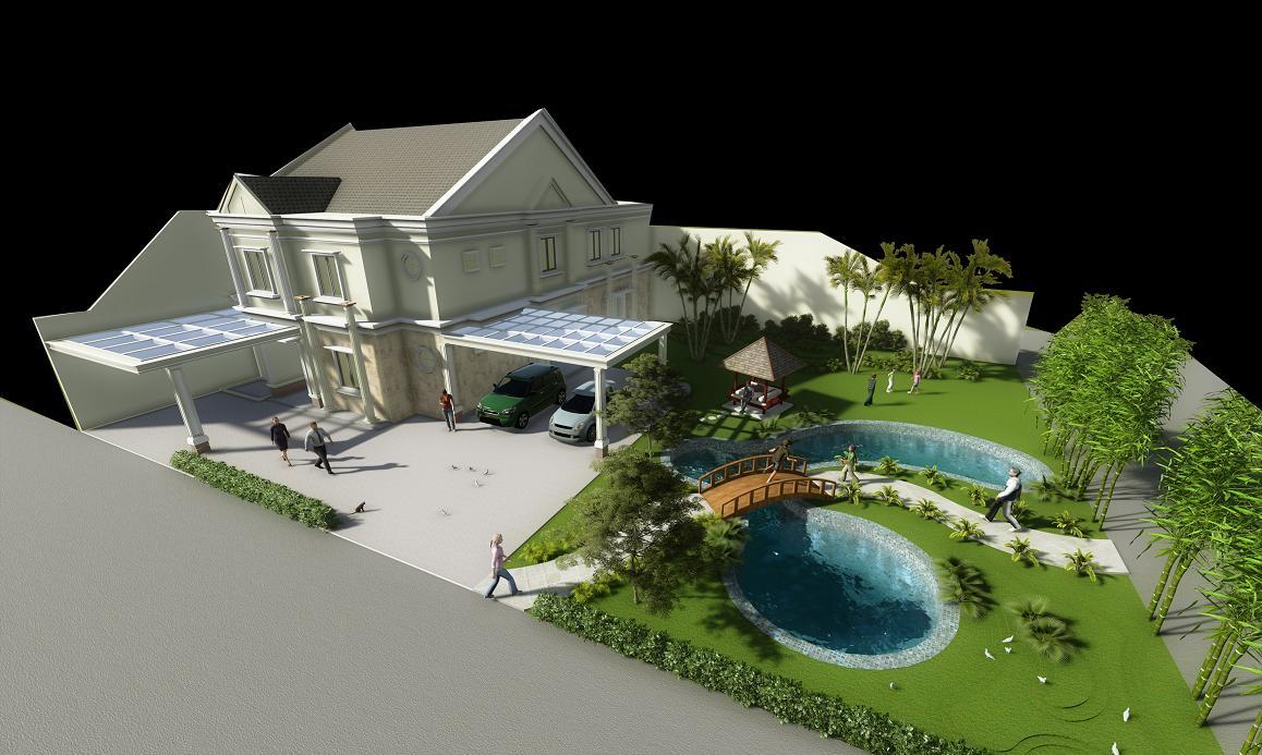 Product DESIGN: Desain Taman Rumah Jembatan Kolam Cantik & Desain Rumah Minimalis Nan Asri - 2017 Age