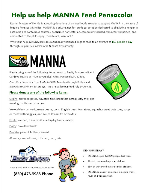Love To Live In Pensacola Florida Manna Food Bank Drive