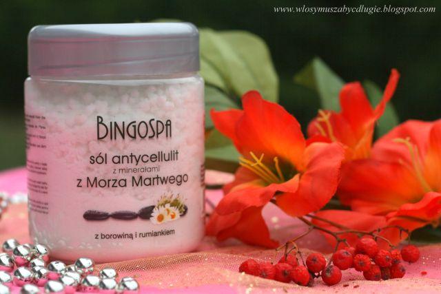 BingoSpa – Sól z minerałami z Morza Martwego do pielęgnacji skóry ze skłonnościami do celulitu z rumiankiem i borowiną
