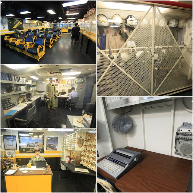 The meeting room and administration department in the USS Midway Museum in San Diego, California, USA