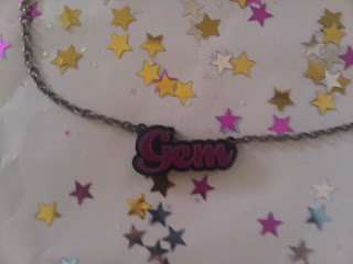 gem personalised necklace