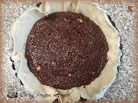 Crostata con cioccolato e farina di nocciole