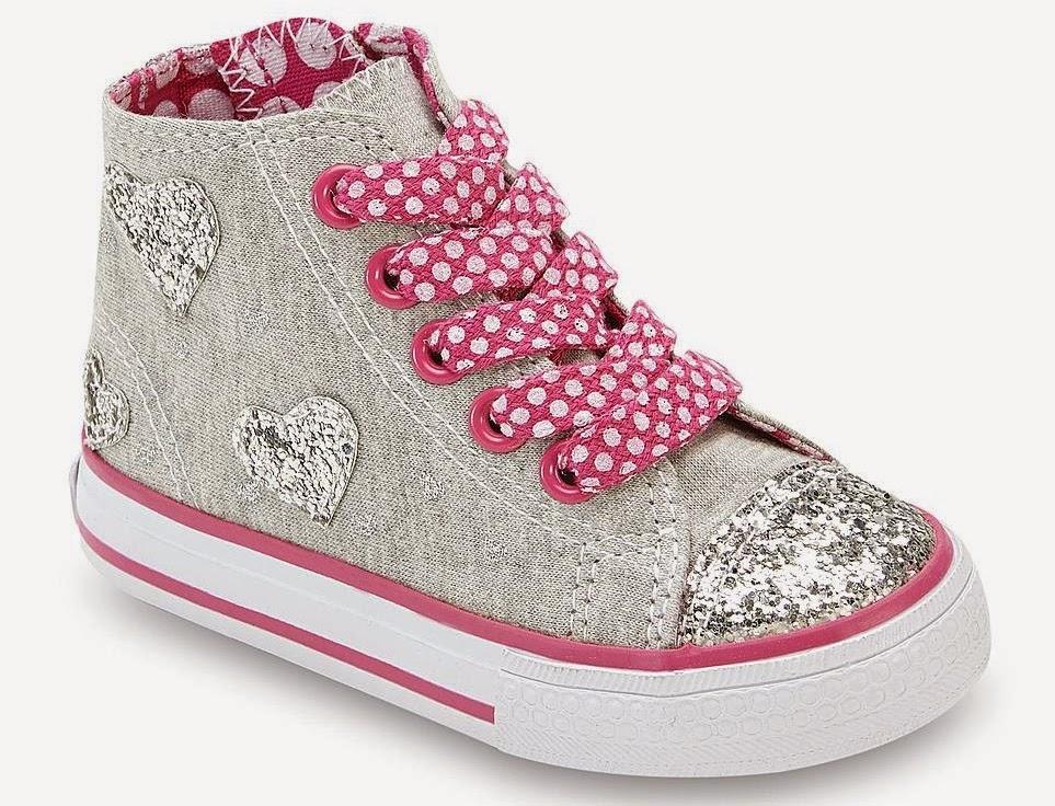 A Little Extra Love: Bongo Toddler Girl\'s Cara High-Top Sneakers ...