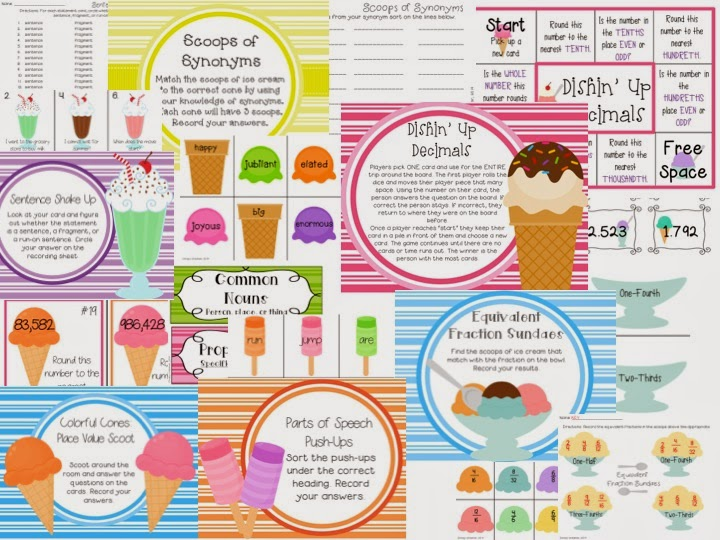 http://www.teacherspayteachers.com/Product/I-Scream-You-Scream-Ice-Cream-Math-ELA-Centers-for-Upper-Elementary-1221649