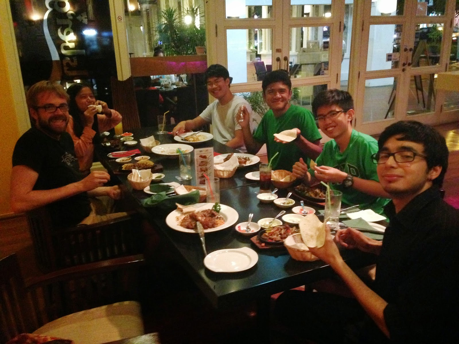 This Is What A Truly International Family Like South African Taking Photo Of Brit Filipino Korean Cambodian Vietnamese And Chilean Eating