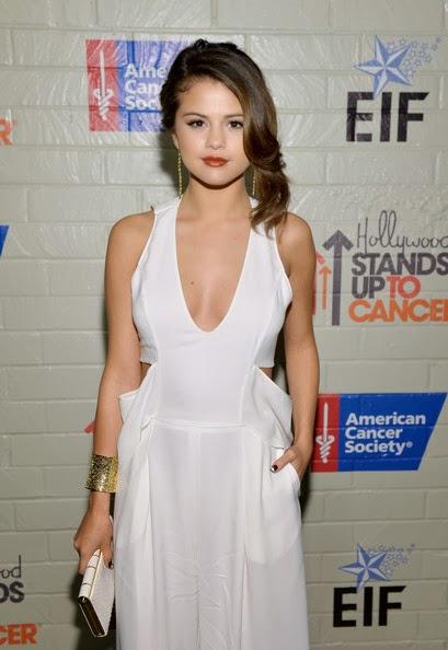 Selena Gomez Retro Updo Hairstyle