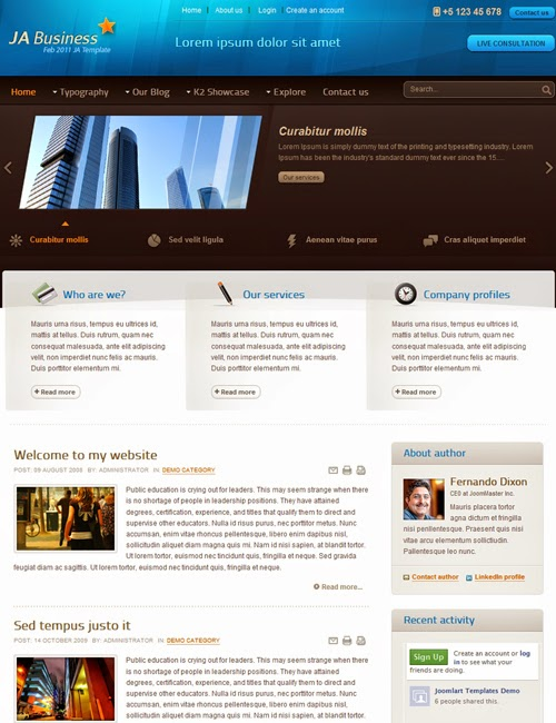 JA Business v 2.5.5 – Joomla Template
