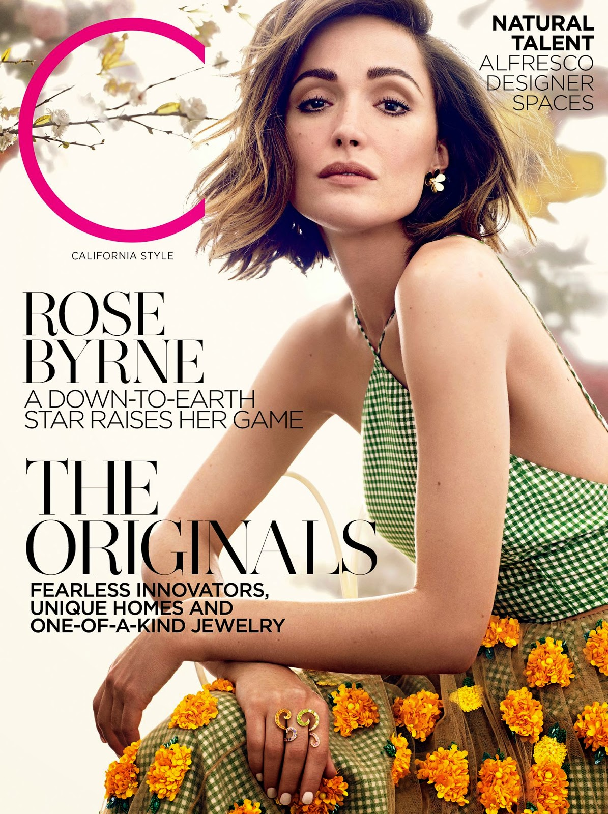 Actress @ Rose Byrne by Ladylike Pretty For C magazine, May 2015