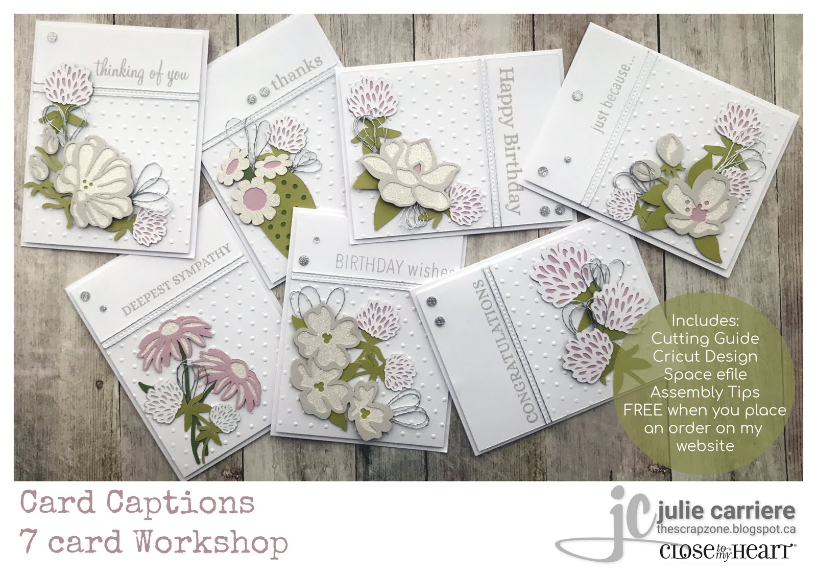 card captions cardmaking assembly guide