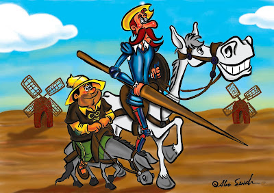 Analogia de Tom Quixote e Sancho Pança, aliados assim como IF e ELSE