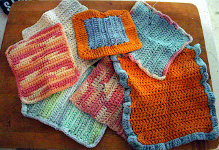 badly crocheted dishcloths