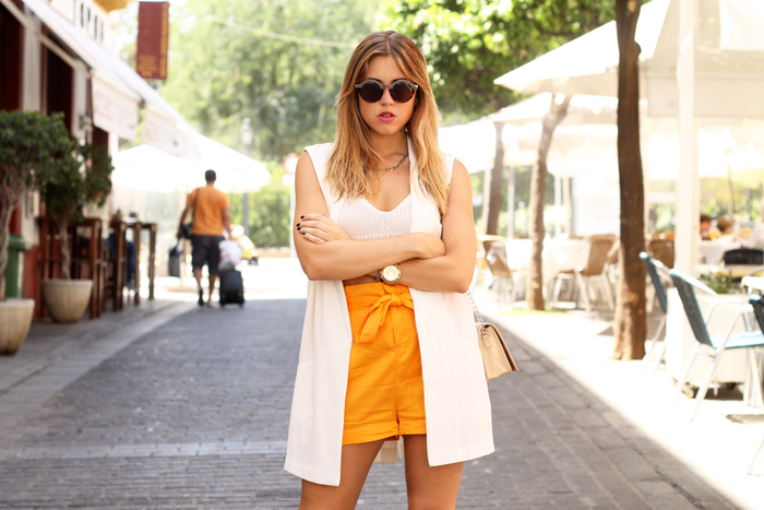 shorts and vest