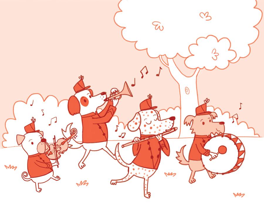 Marching Band Drawing Dog Marching Band Drawing