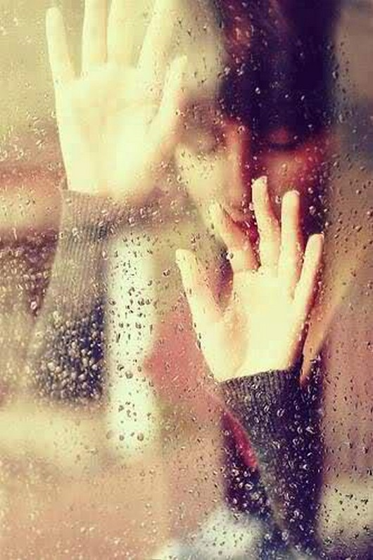 alone sad girl rain water drops | 4loveimages
