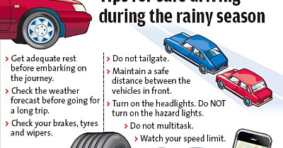 road safety in rainy season When it's raining driving can be both dangerous and scary, and it's crucial to take wet weather seriously on the road carzar provides ways on how to be safe when driving on a rainy day.