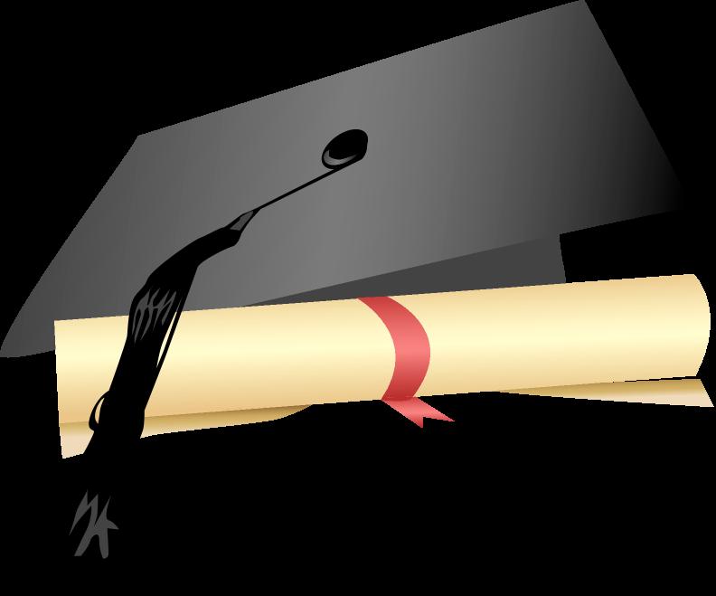 Diploma with graduate s cap