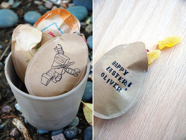Tutorial huevos de pascua de papel DIY paper bag easter eggs