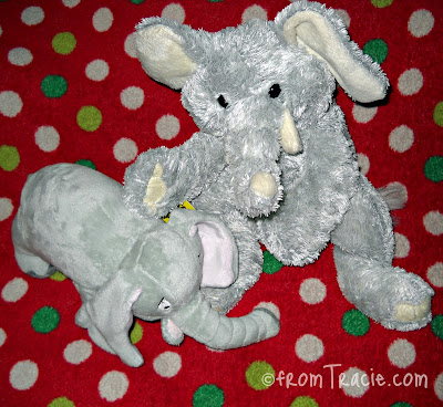 Norman Meets My Stuffed Elephant Ally