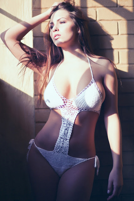 Sabine Jemeljanova – Topless Lingerie Photoshoot