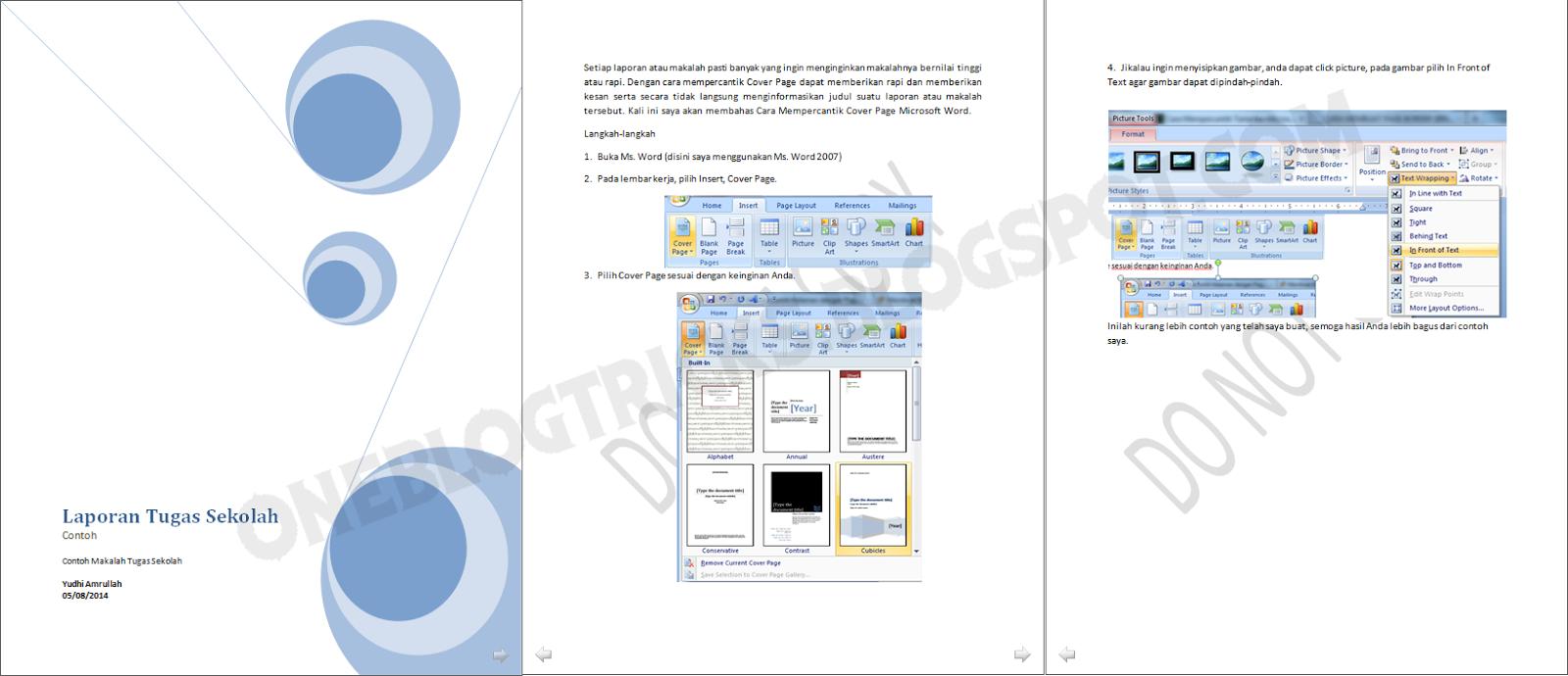 cara mempercantik cover page microsoft word xeo site cara mempercantik cover page microsoft word