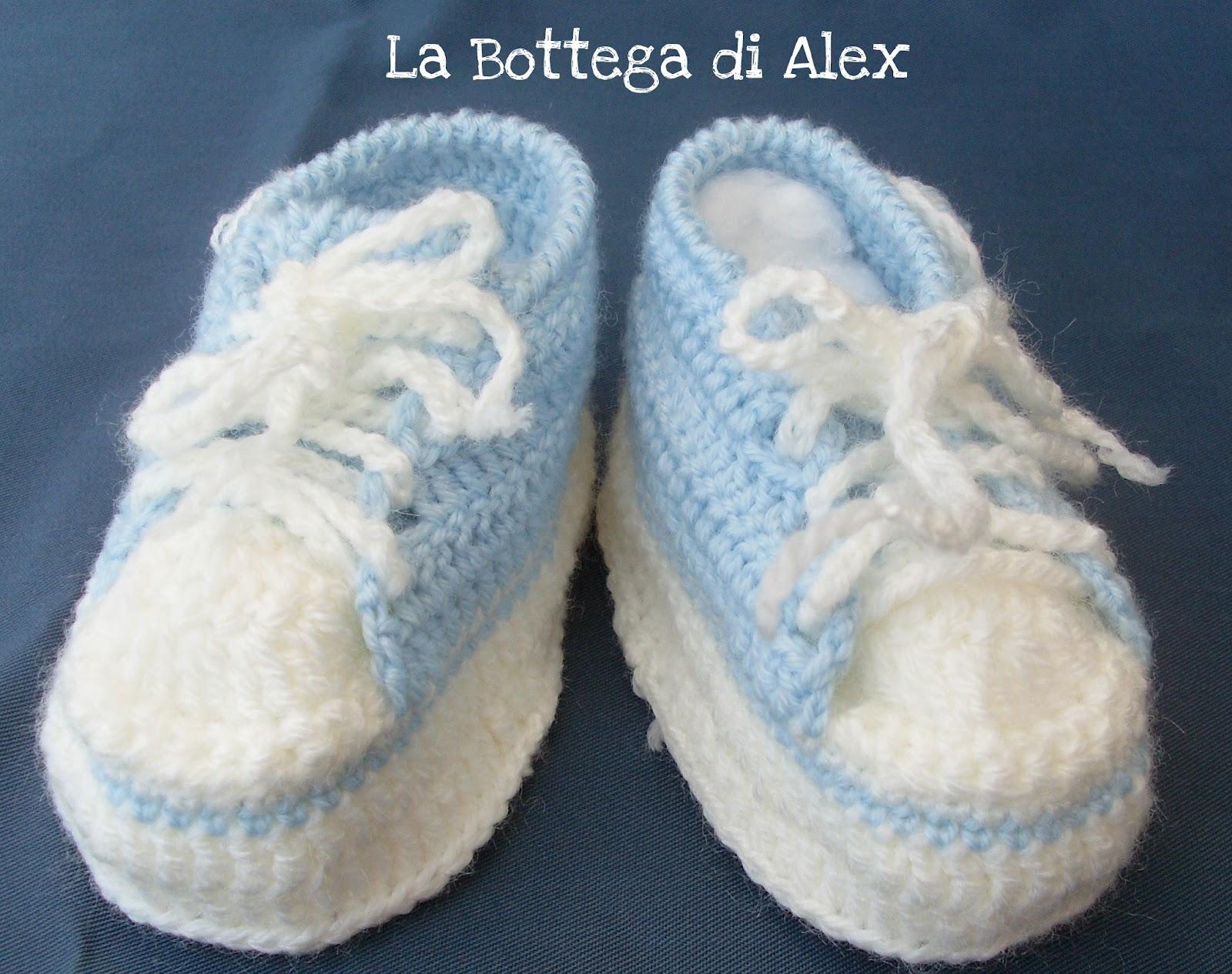 Favoloso La Bottega di Alex: Scarpine neonato SN95