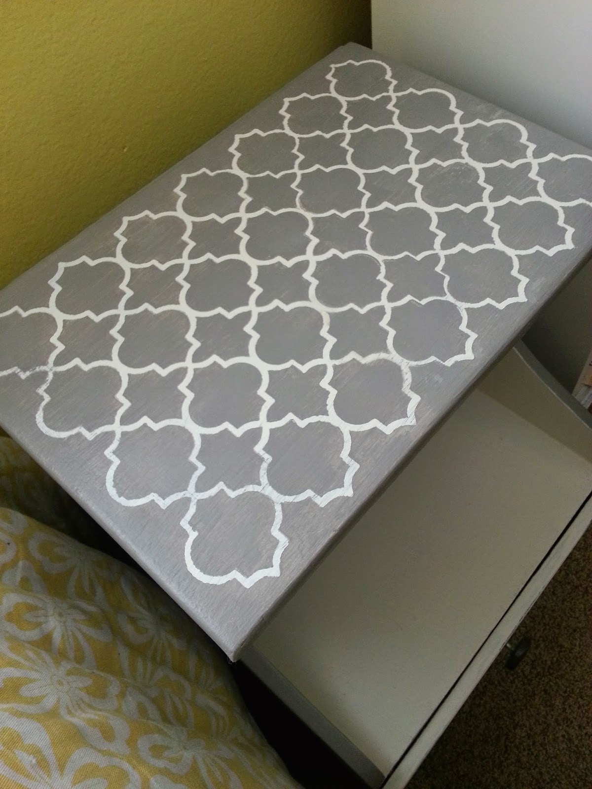How to stencil designs on furniture