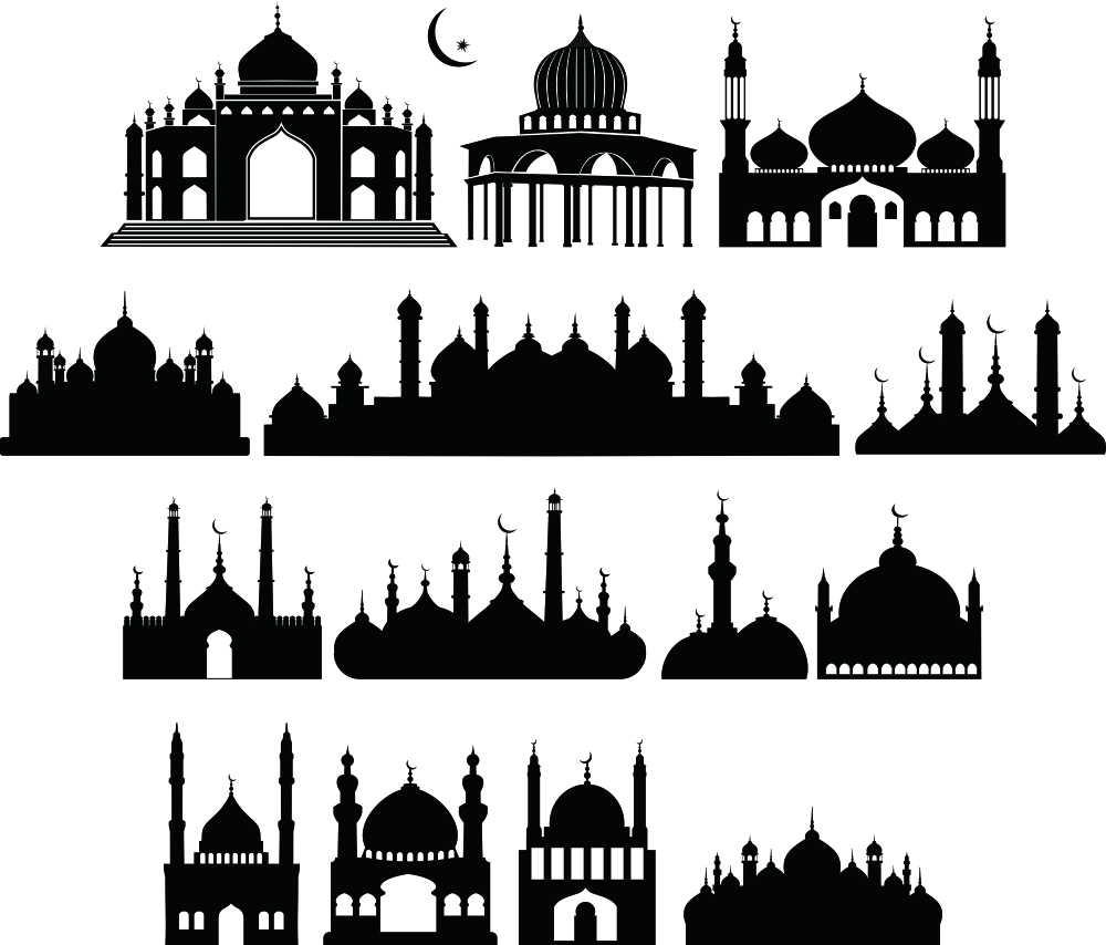 Siluet Masjid Vector - Desain Jempol (y)