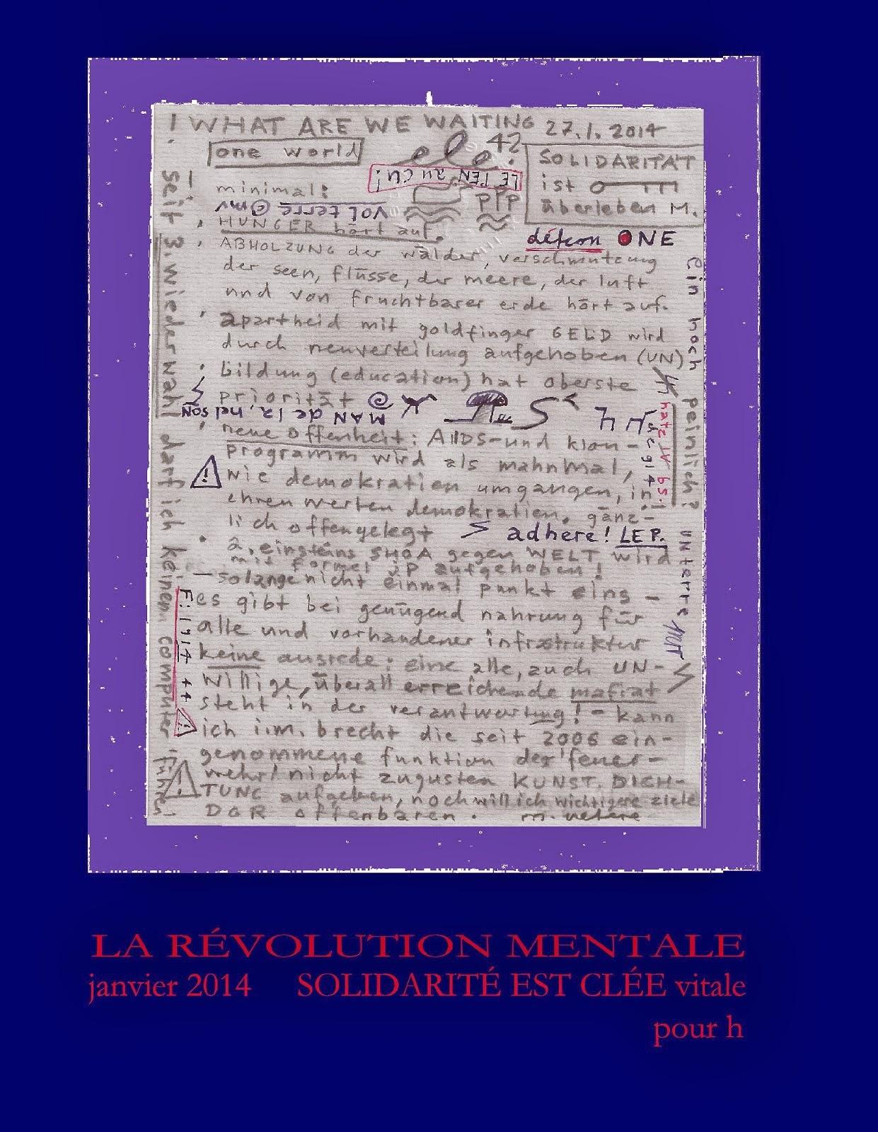 THE HOPE CYCLE 4 human politics - DIE GEISTIGE REVOLUTION TMR LRM DGR solidarité