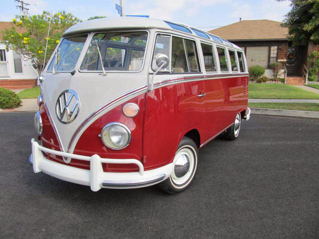 1966 vw samba deluxe 21 window titian red buy classic volks for 1966 21 window vw bus