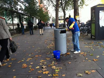 Cestino della spazzatura a Londra