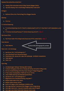 Gambar Daftar Isi/SiteMap Di Blogger/Blogspot