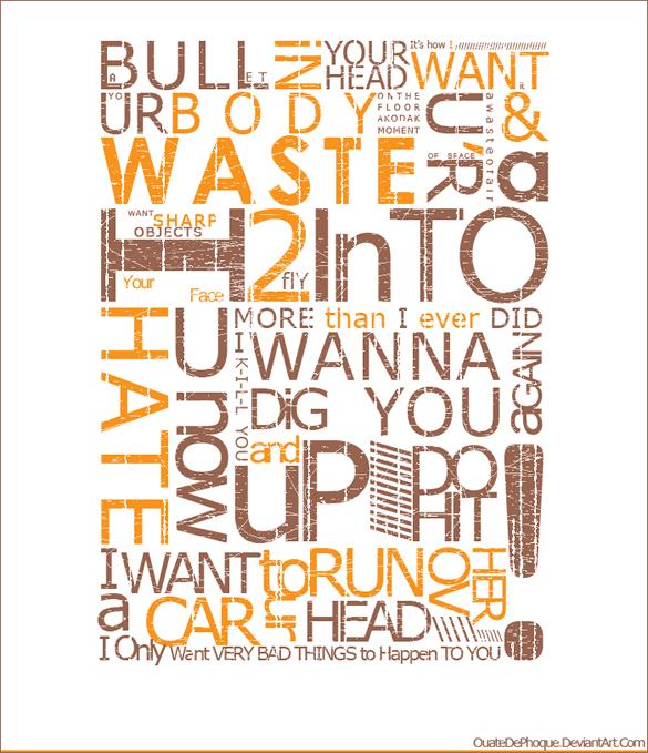 izazeyza sVintage Typography Poster