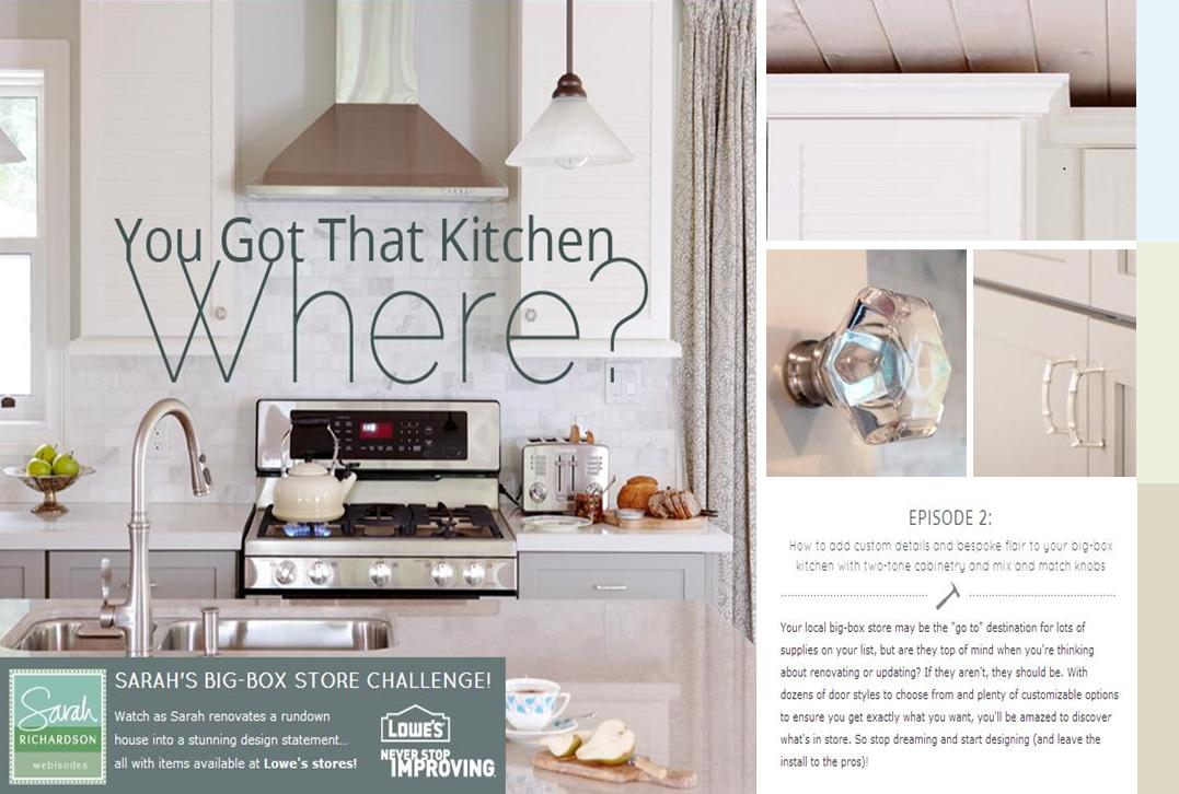 design maze: big-box challenge w/ sarah richardson: kitchen