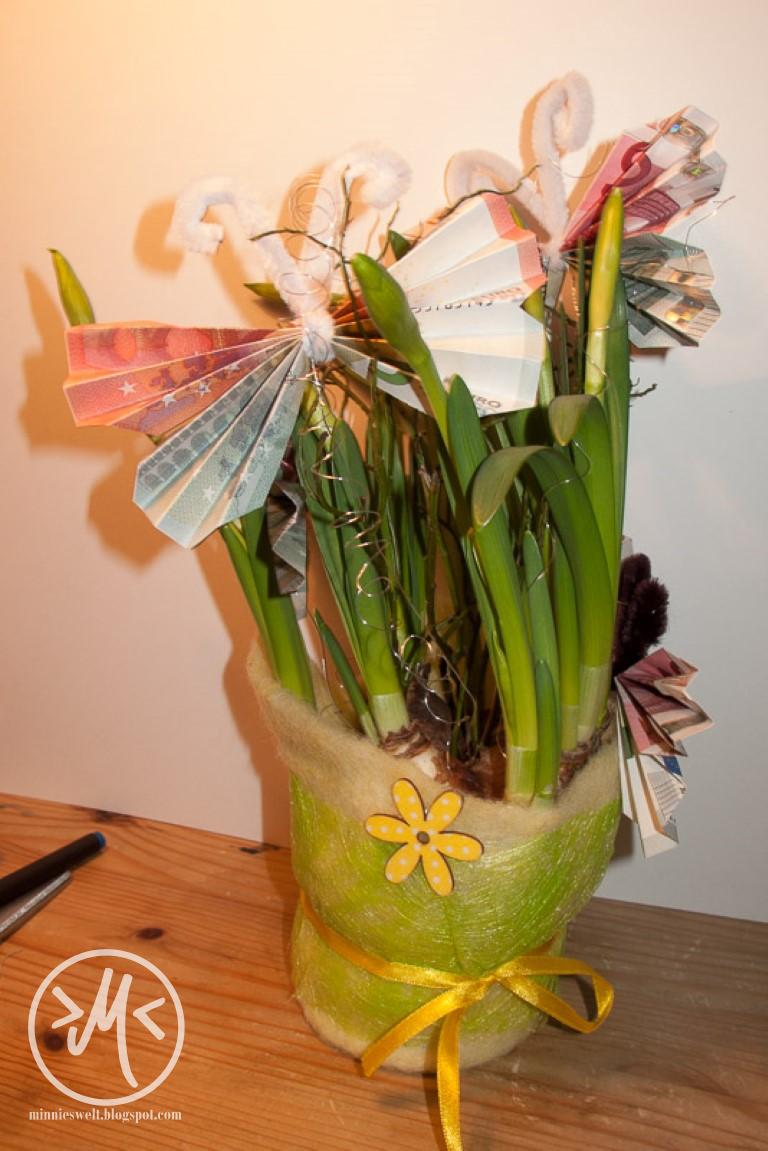 ... . Kreatives DIY-Chaos.: Wie man ein Geldgeschenk dekorativ verpackt