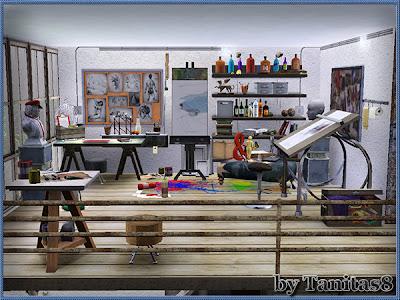 My sims 3 blog loft apartment by tanitas8 for Apartment design sims 3