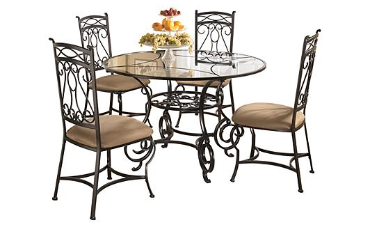 Ashley Furniture HomeStore Bianca Dining Table & 4 Side