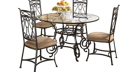 Ashley Furniture Homestore Bianca Dining Table 4 Side Chairs