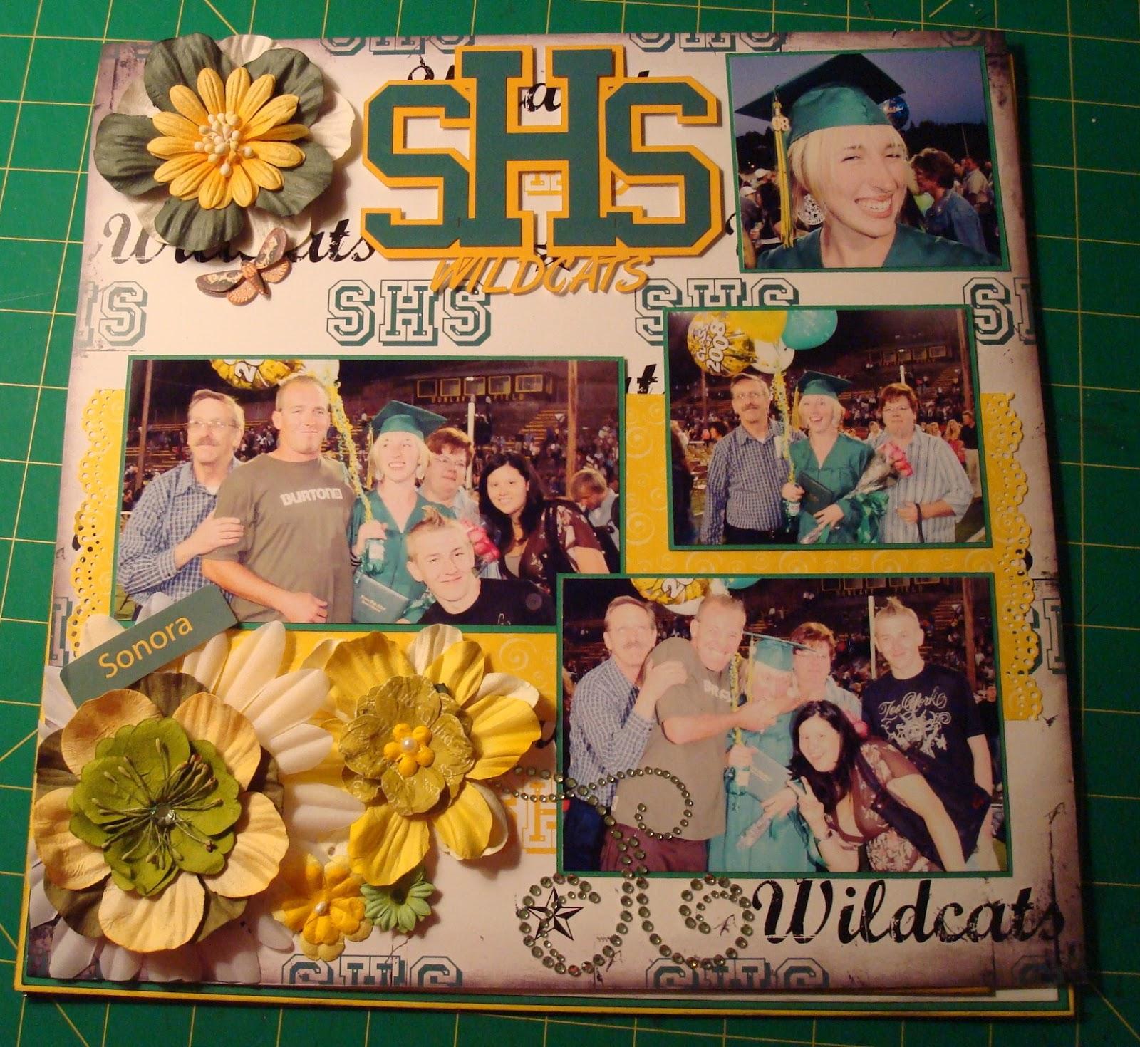 Golden Leaf Scrapbook Graduation Layouts
