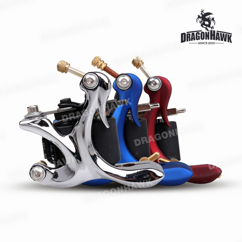 Tattoo supplies 10 wrap coils iron alloy tattoo machine for Difference between shader and liner tattoo machine