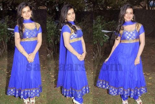 Leema in Blue Salwar Kameez