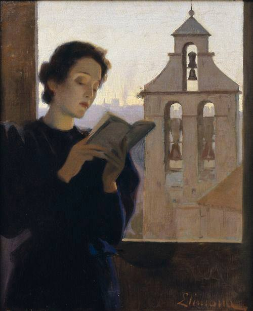 Joan Limona. Woman Reading, 1900-5