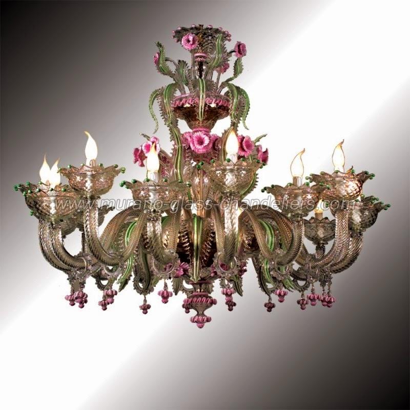 Murano Glass Chandelier Lamps
