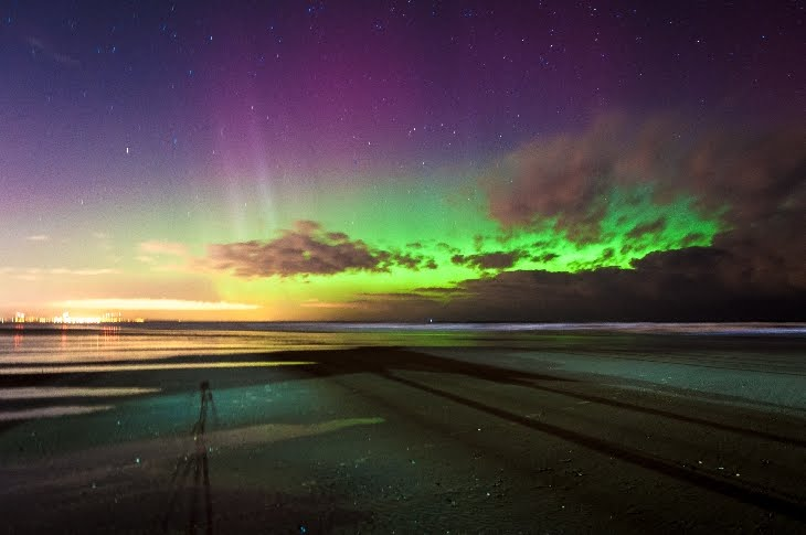 A Northern light show for Europe and the US as geomagnetic storm causes auroras as far south....