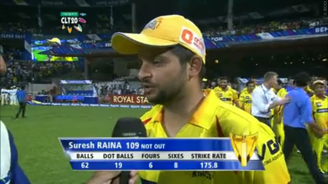 Suresh-Raina-109-KOLKATA-KNIGHT-RIDERS-V-CHENNAI-SUPER-KINGS-CLT20-2014
