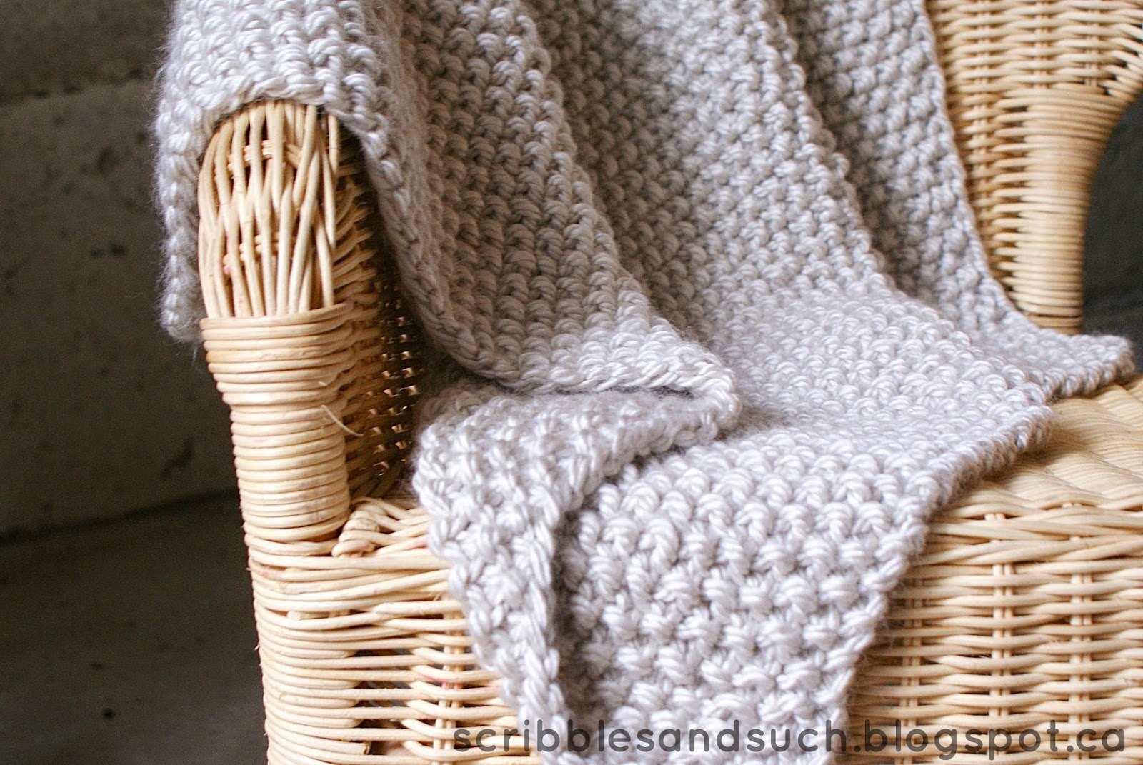 scribbles & such: Chunky Knitted Baby Blanket