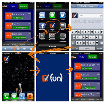 Steps for installing Funl on your iPhone/iPod/iPad/iOS home screen