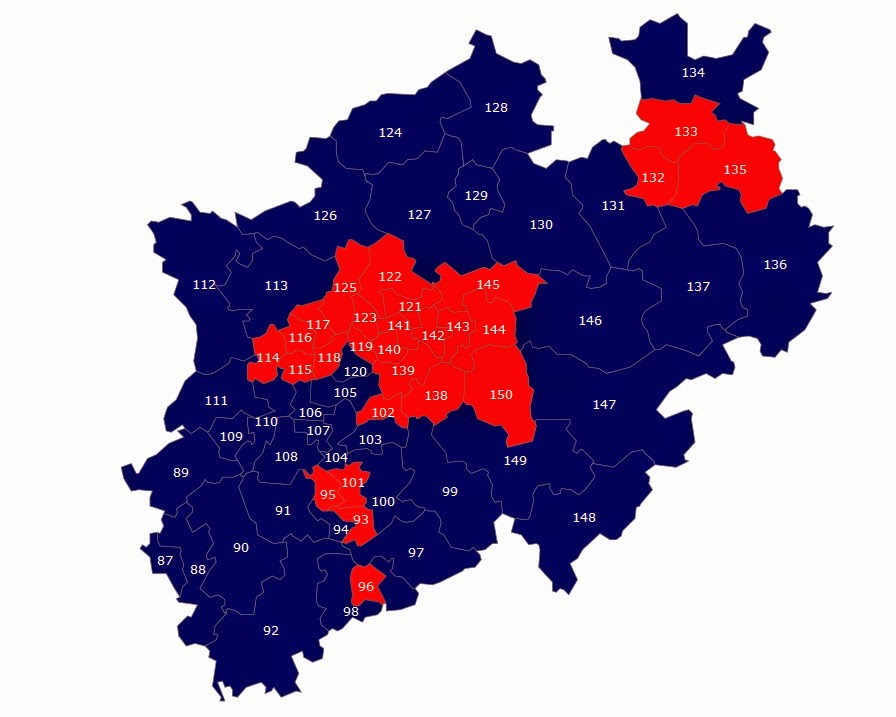 Screenshot Wahlkreiskarte