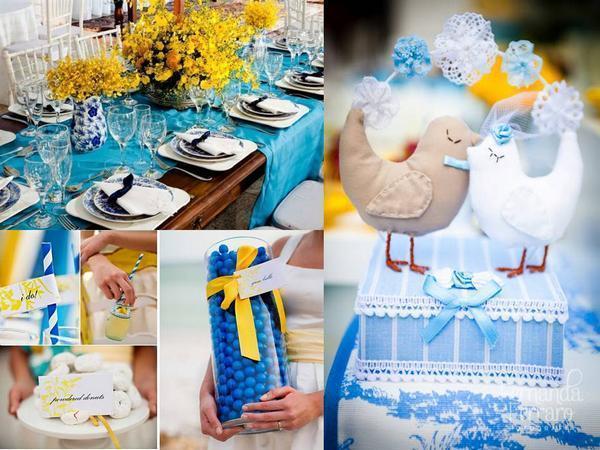 decoracao casamento azul turquesa e amarelo : decoracao casamento azul turquesa e amarelo:Casamentos DIY: Cores para decoração de Casamento