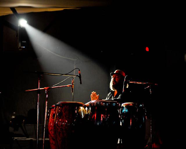 Monojit Datta on the Cognas. Los Amigos at the Dalhousie Institute Jazz Fest 2011, Day 1, Nikon D300
